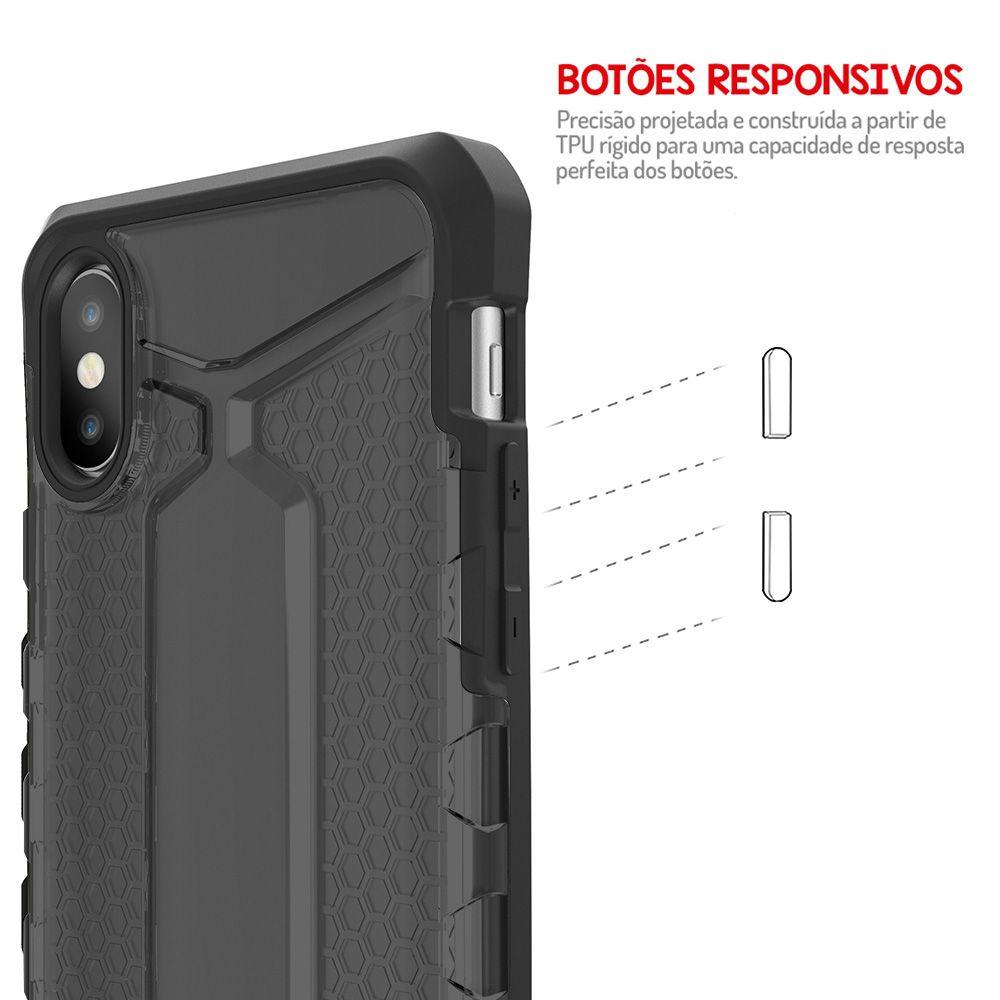 Capa Antishock Armor Plus Apple iPhone X - Grafite
