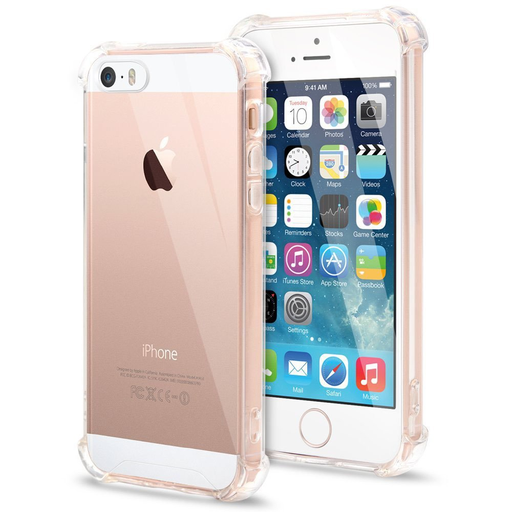 Capa TPU Anti Impacto Transparente Apple Iphone 5 5S SE