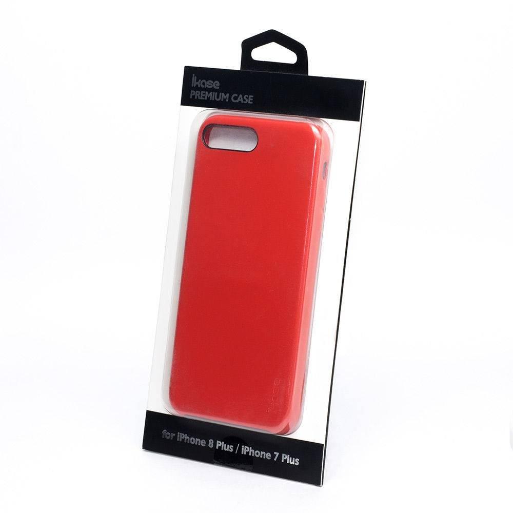 Capa de Couro Premium Case Ikase Para Apple iPhone 7/8 Plus - Vermelha