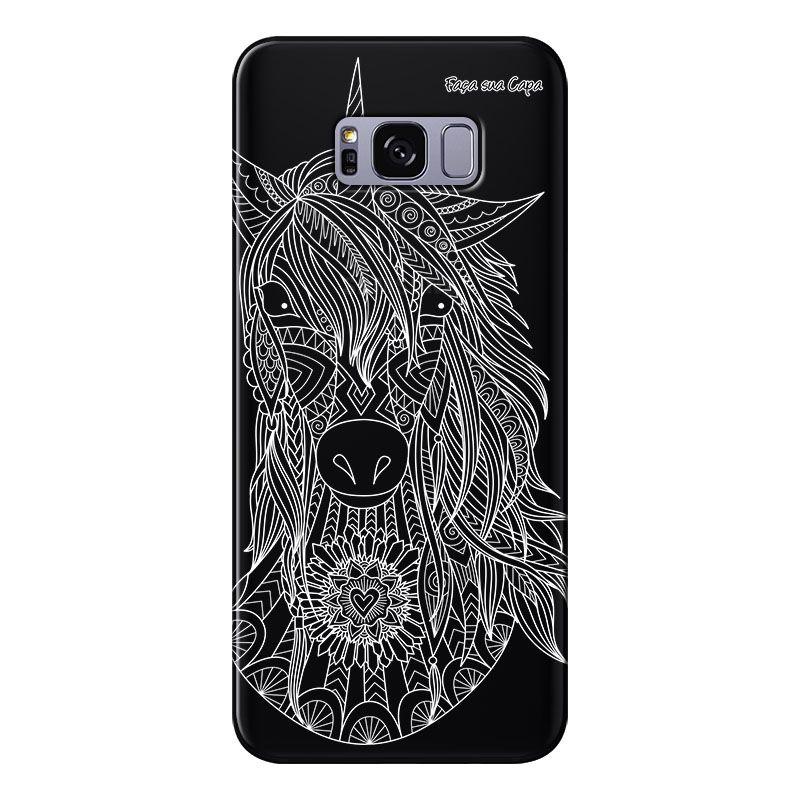 Capa Grafite Personalizada para Samsung Galaxy S8 Plus G955 - Unicórnio - GF05