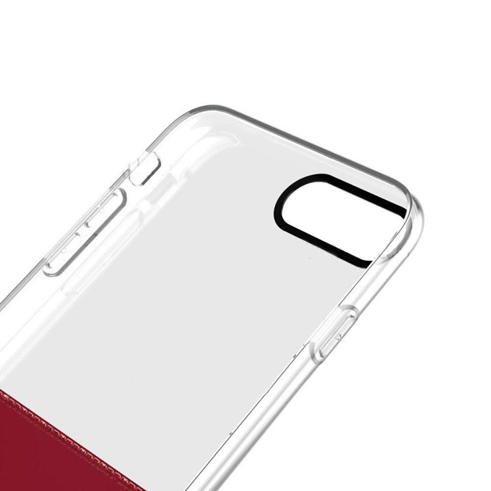 Capa Half 2 Half Baseus Apple iPhone 7/8 - Vermelho/Transparente