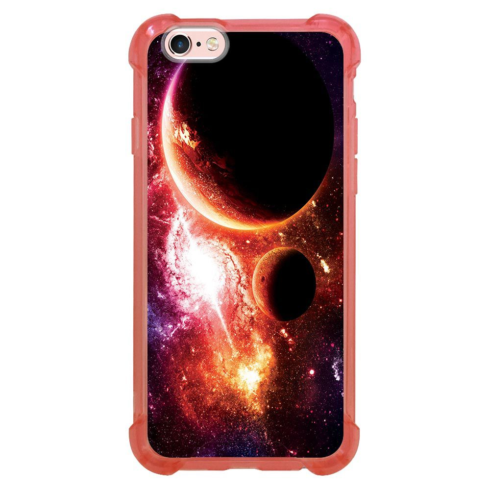Capa Intelimix Anti-Impacto Rosa Apple iPhone 6 6s Planetas - AT29