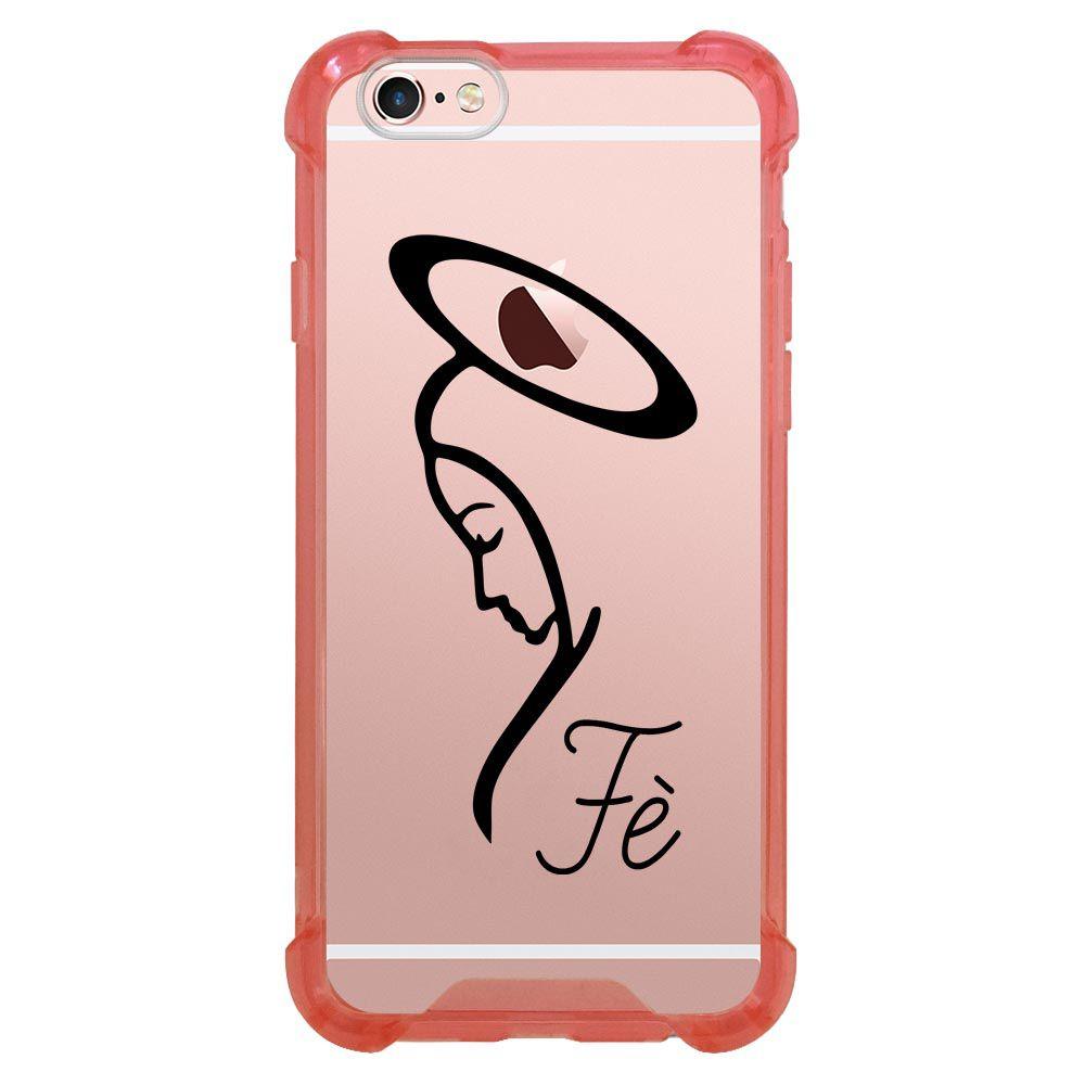 Capa Intelimix Anti-Impacto Rosa Apple iPhone 6 6s Religião - TP349