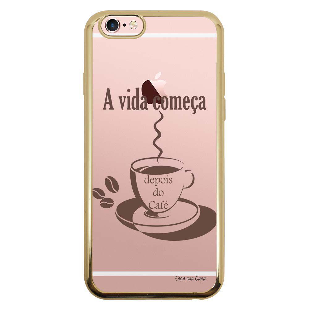 Capa Intelimix Intelislim Dourado Apple iPhone 6 6s Frases - TP01