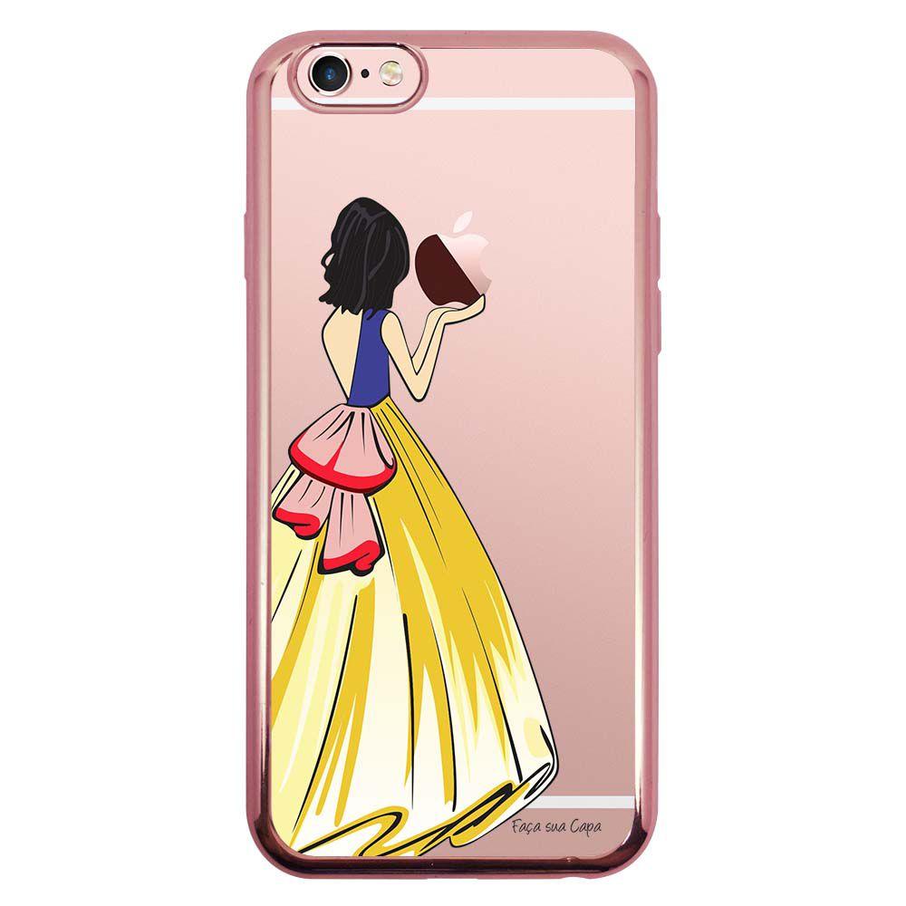 Capa Intelimix Intelislim Rosê Apple iPhone 6 6s Princesa Branca de Neve - TP203