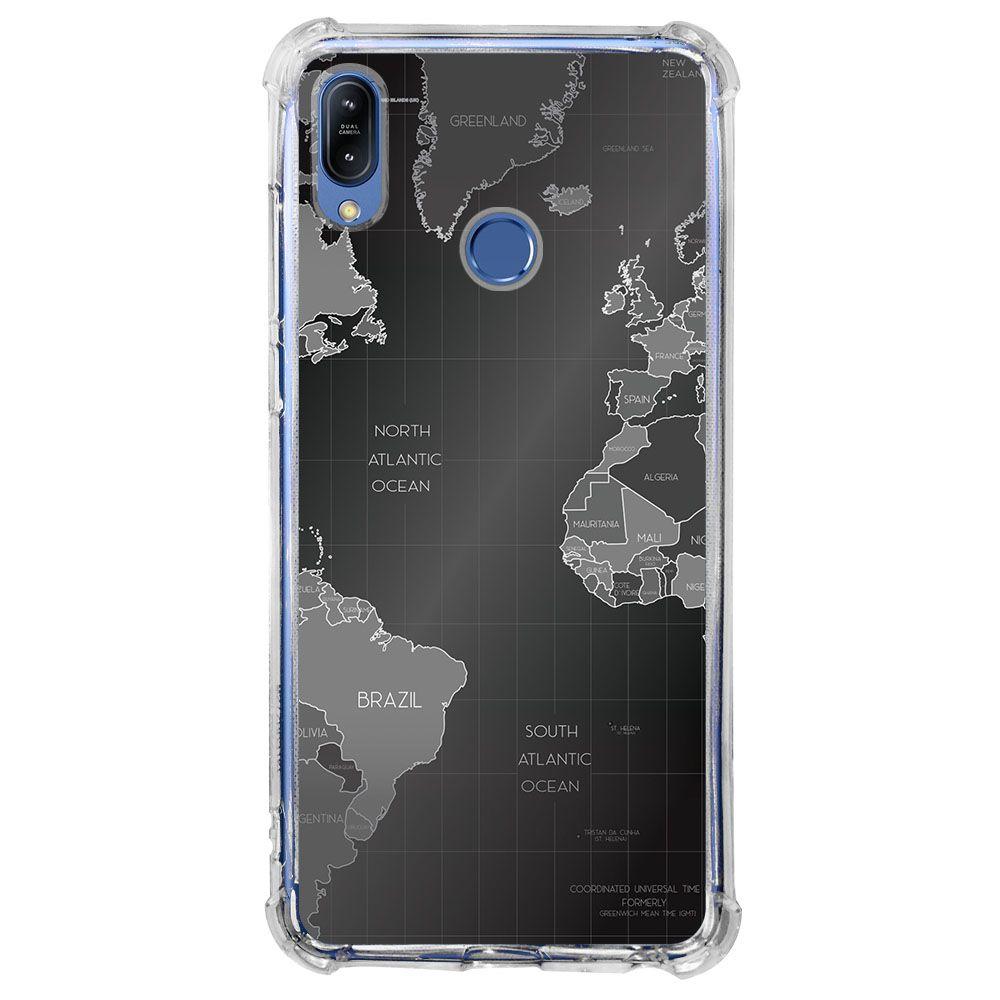 Capa Personalizada Asus Zenfone Max (M1) ZB555KL - Mapa Mundi - MC01