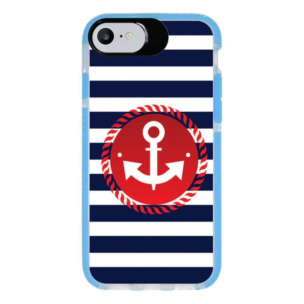 Capa Personalizada Intelimix Intelishock Azul Apple iPhone 7 - Âncora - TX07