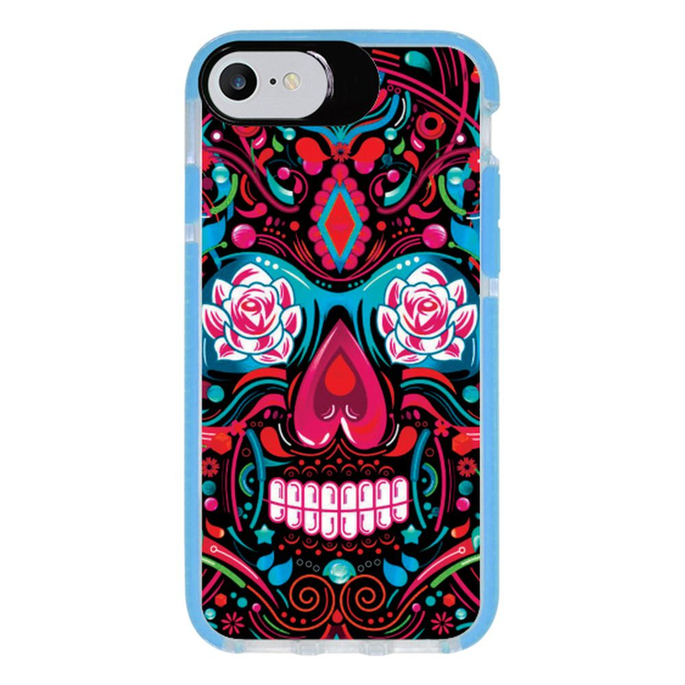 Capa Personalizada Intelimix Intelishock Azul Apple iPhone 7 - Caveira - CV12