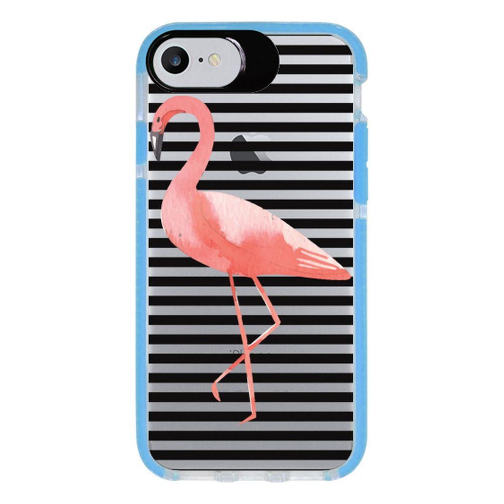 Capa Personalizada Intelimix Intelishock Azul Apple iPhone 7 - Flamingo - TP317