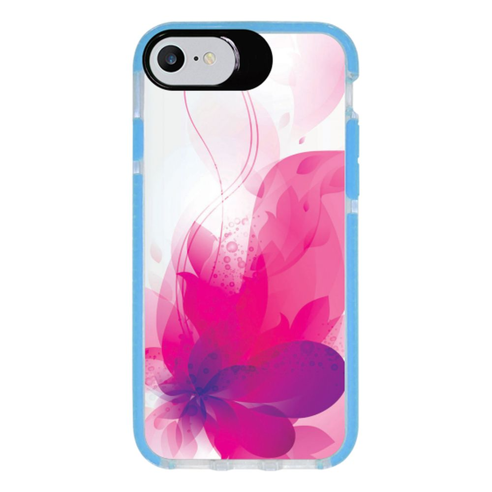 Capa Personalizada Intelimix Intelishock Azul Apple iPhone 7 - Florais - FL19