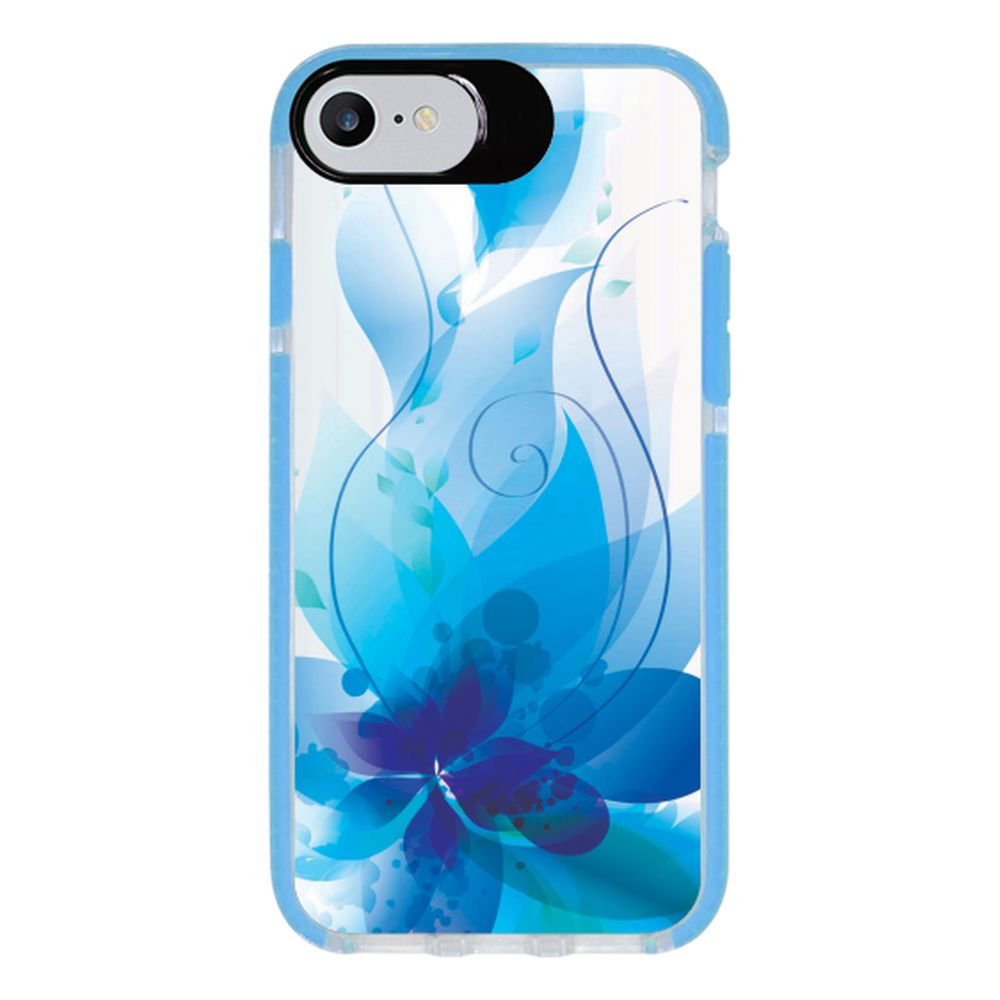 Capa Personalizada Intelimix Intelishock Azul Apple iPhone 7 - Florais - FL21