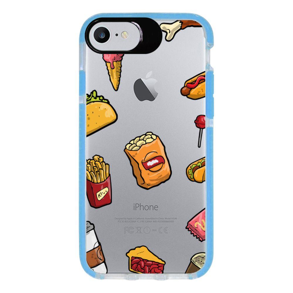 Capa Personalizada Intelimix Intelishock Azul Apple iPhone 7 - Food - TP105