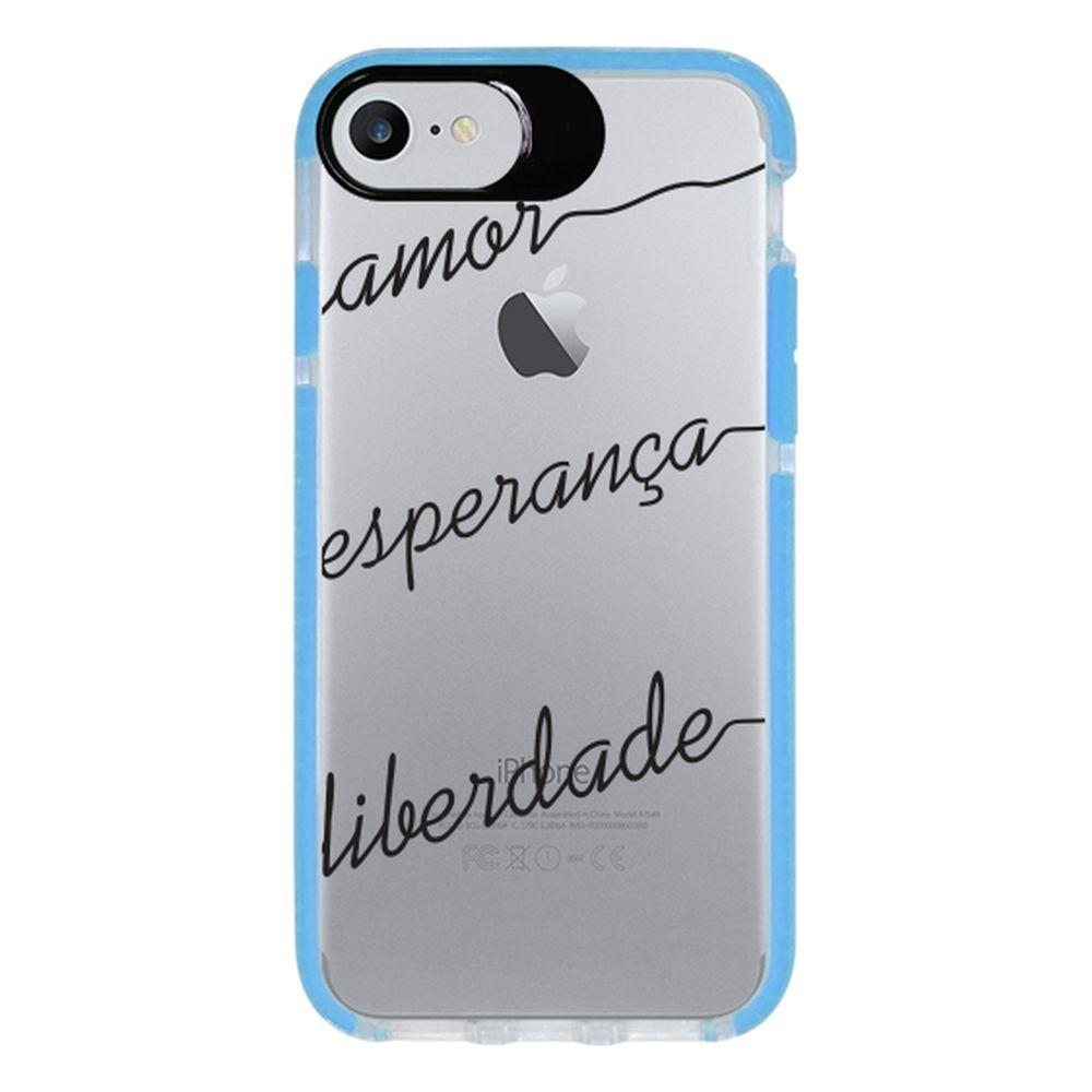 Capa Personalizada Intelimix Intelishock Azul Apple iPhone 7 - Frases - TP46