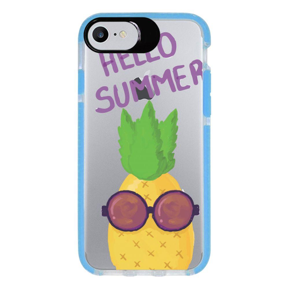 Capa Personalizada Intelimix Intelishock Azul Apple iPhone 7 - Hello Summer - TP322