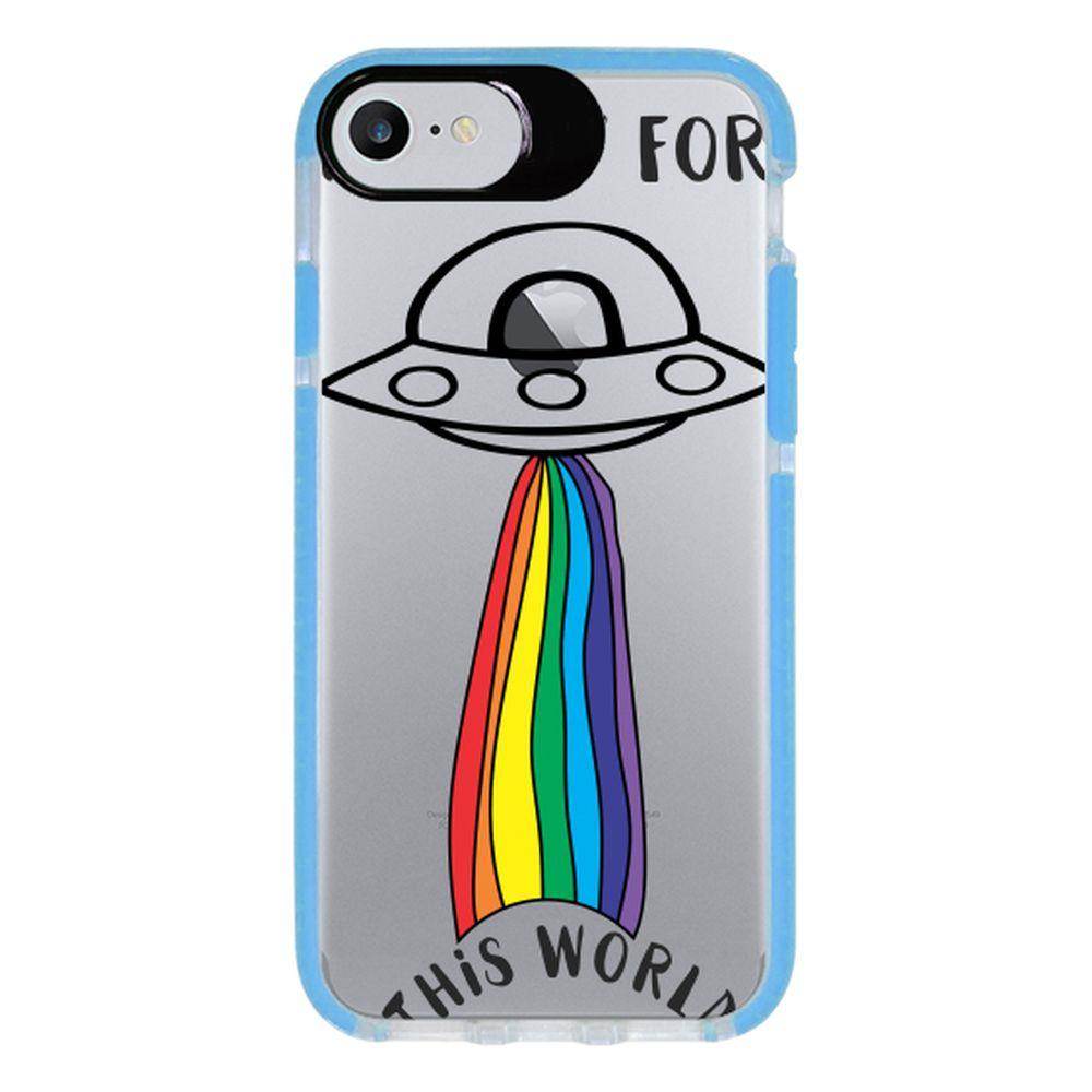 Capa Personalizada Intelimix Intelishock Azul Apple iPhone 7 - LGBT - LB29
