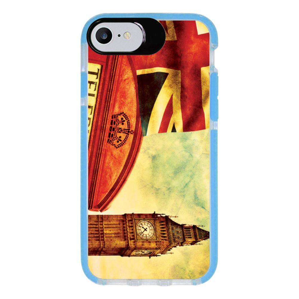 Capa Personalizada Intelimix Intelishock Azul Apple iPhone 7 - London - CD15