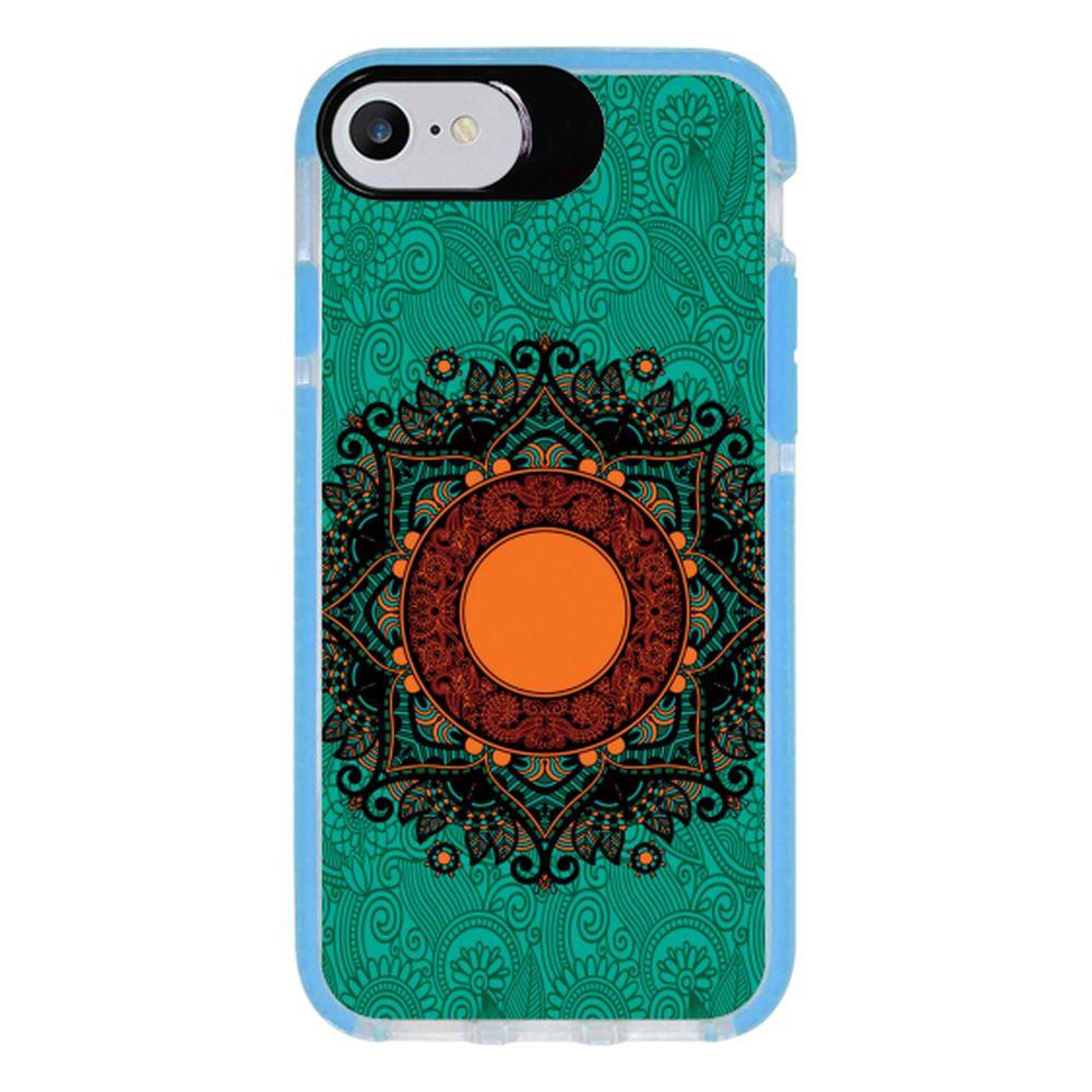 Capa Personalizada Intelimix Intelishock Azul Apple iPhone 7 - Mandala - AT24