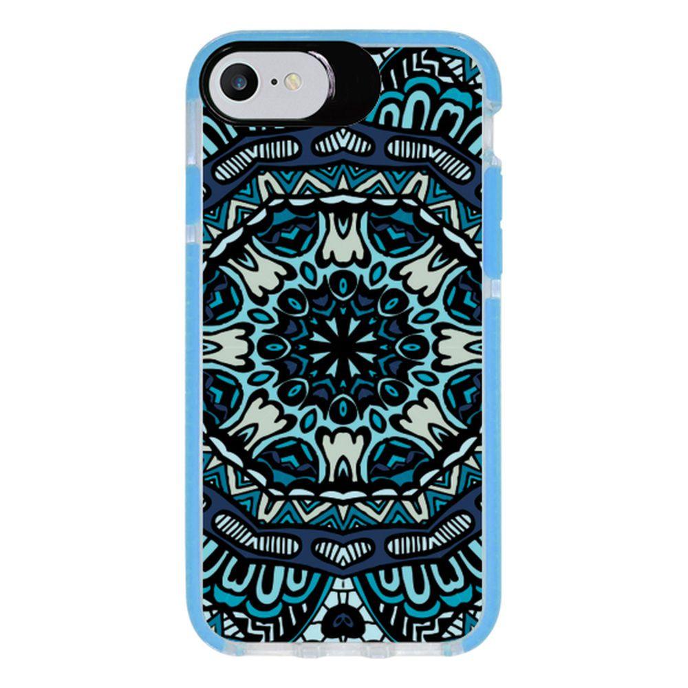 Capa Personalizada Intelimix Intelishock Azul Apple iPhone 7 - Mandala - AT72