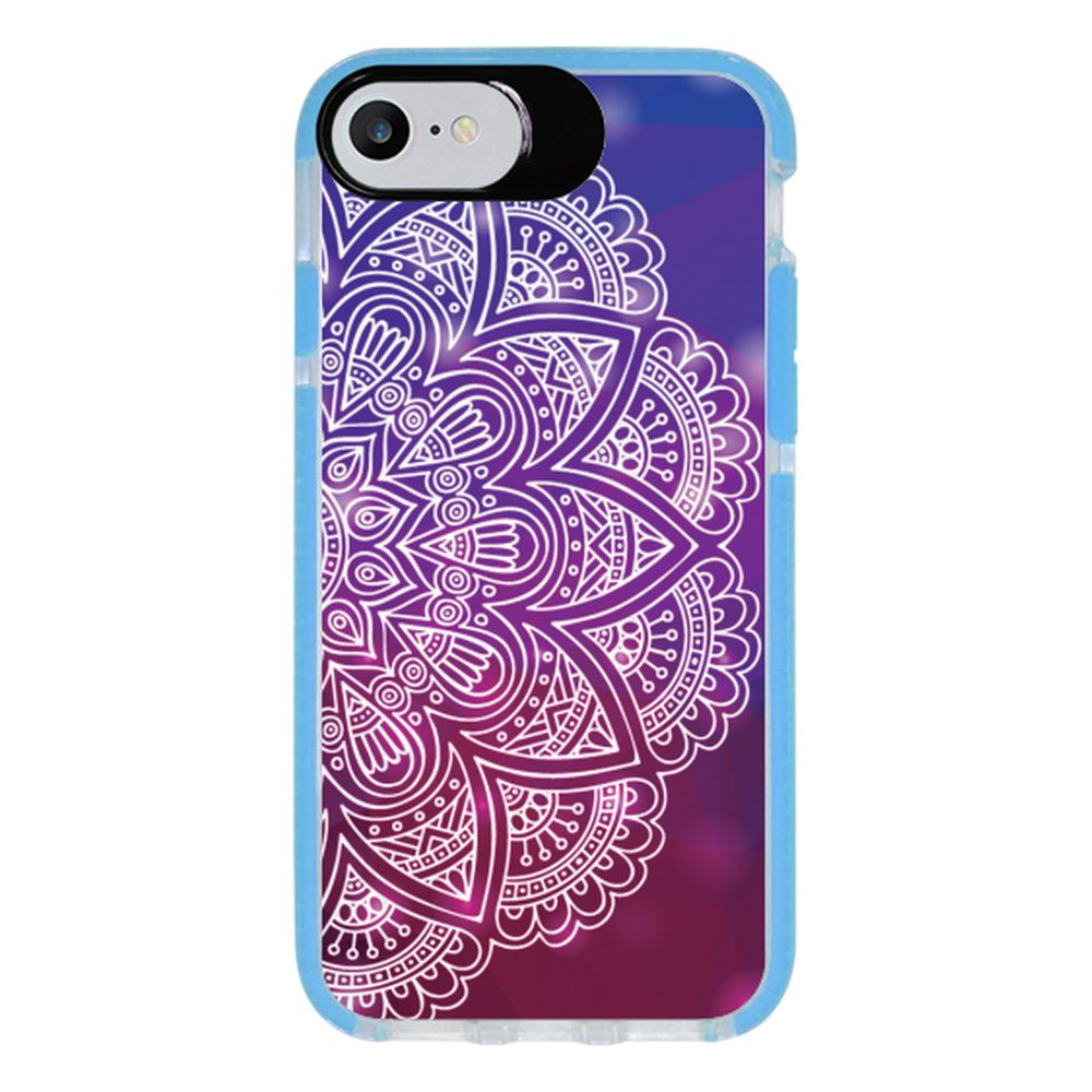 Capa Personalizada Intelimix Intelishock Azul Apple iPhone 7 - Mandala - AT80