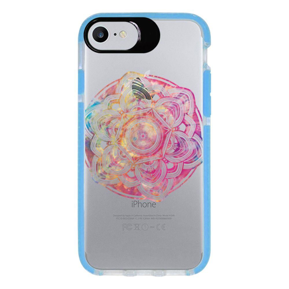 Capa Personalizada Intelimix Intelishock Azul Apple iPhone 7 - Mandala - TP256