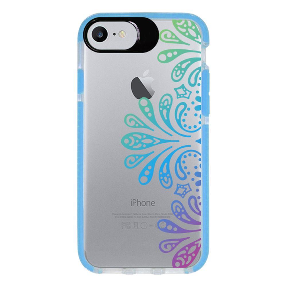 Capa Personalizada Intelimix Intelishock Azul Apple iPhone 7 - Mandala - TP259