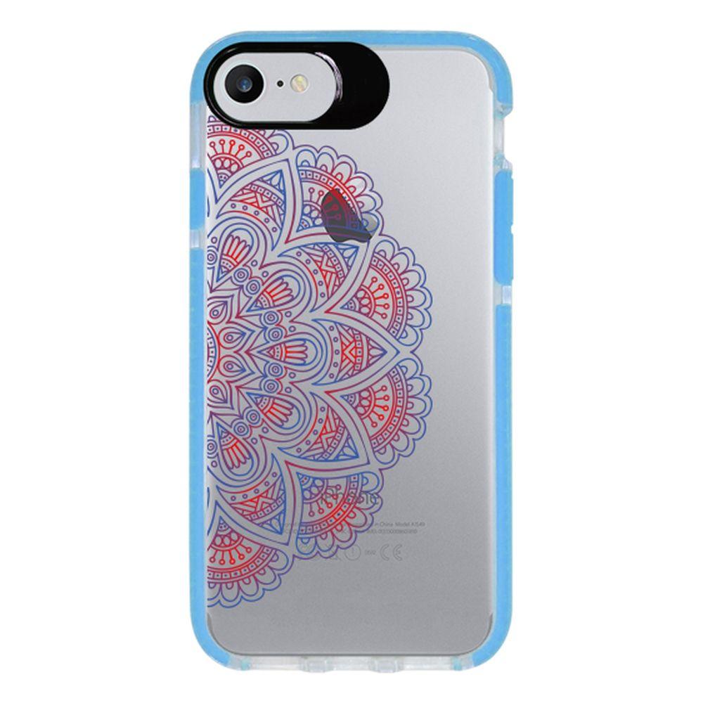 Capa Personalizada Intelimix Intelishock Azul Apple iPhone 7 - Mandala - TP31