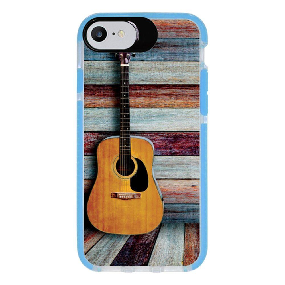 Capa Personalizada Intelimix Intelishock Azul Apple iPhone 7 - Música - MU03