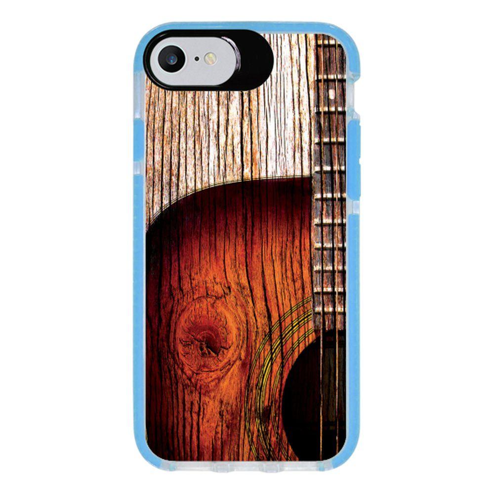Capa Personalizada Intelimix Intelishock Azul Apple iPhone 7 - Música - MU07
