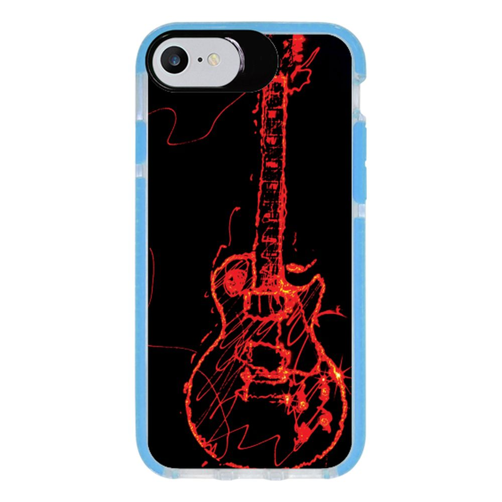 Capa Personalizada Intelimix Intelishock Azul Apple iPhone 7 - Música - MU11