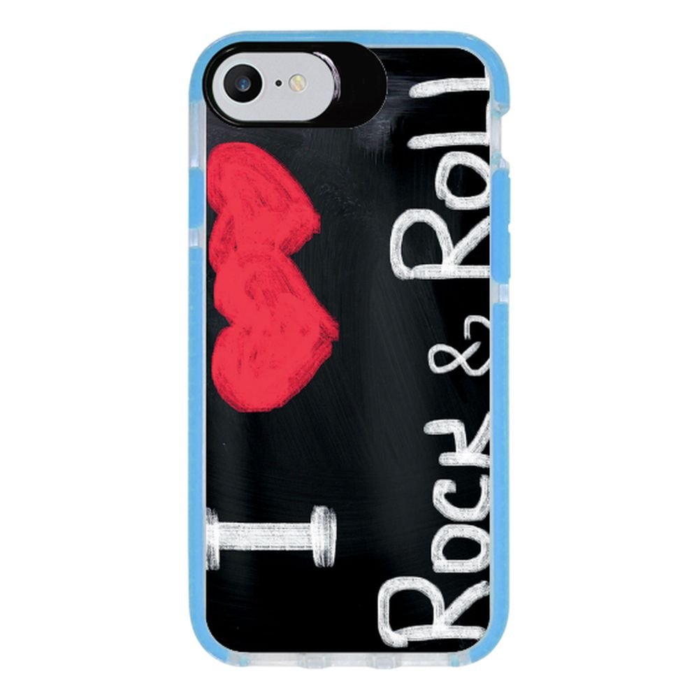 Capa Personalizada Intelimix Intelishock Azul Apple iPhone 7 - Música - MU30