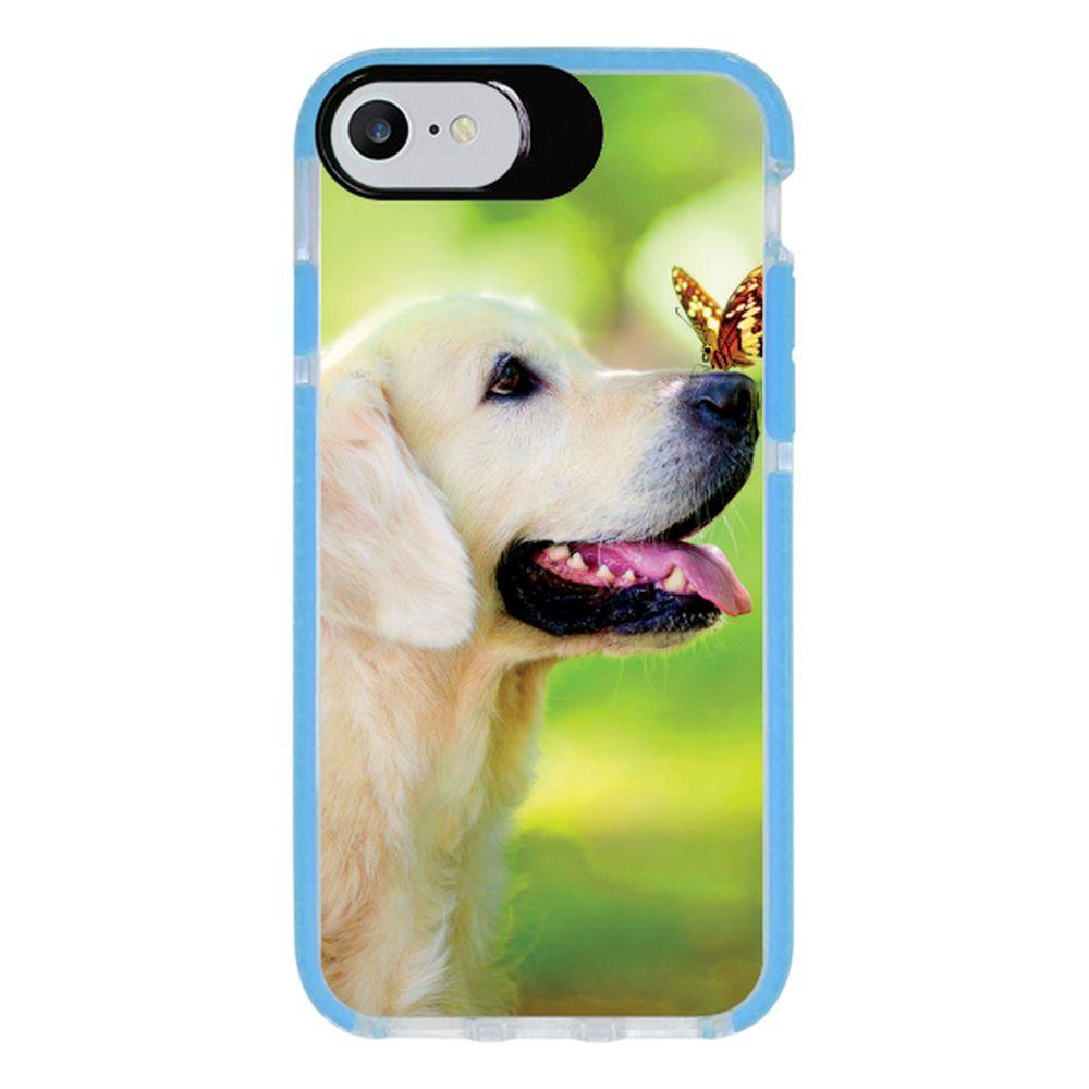 Capa Personalizada Intelimix Intelishock Azul Apple iPhone 7 - Pets - PE33