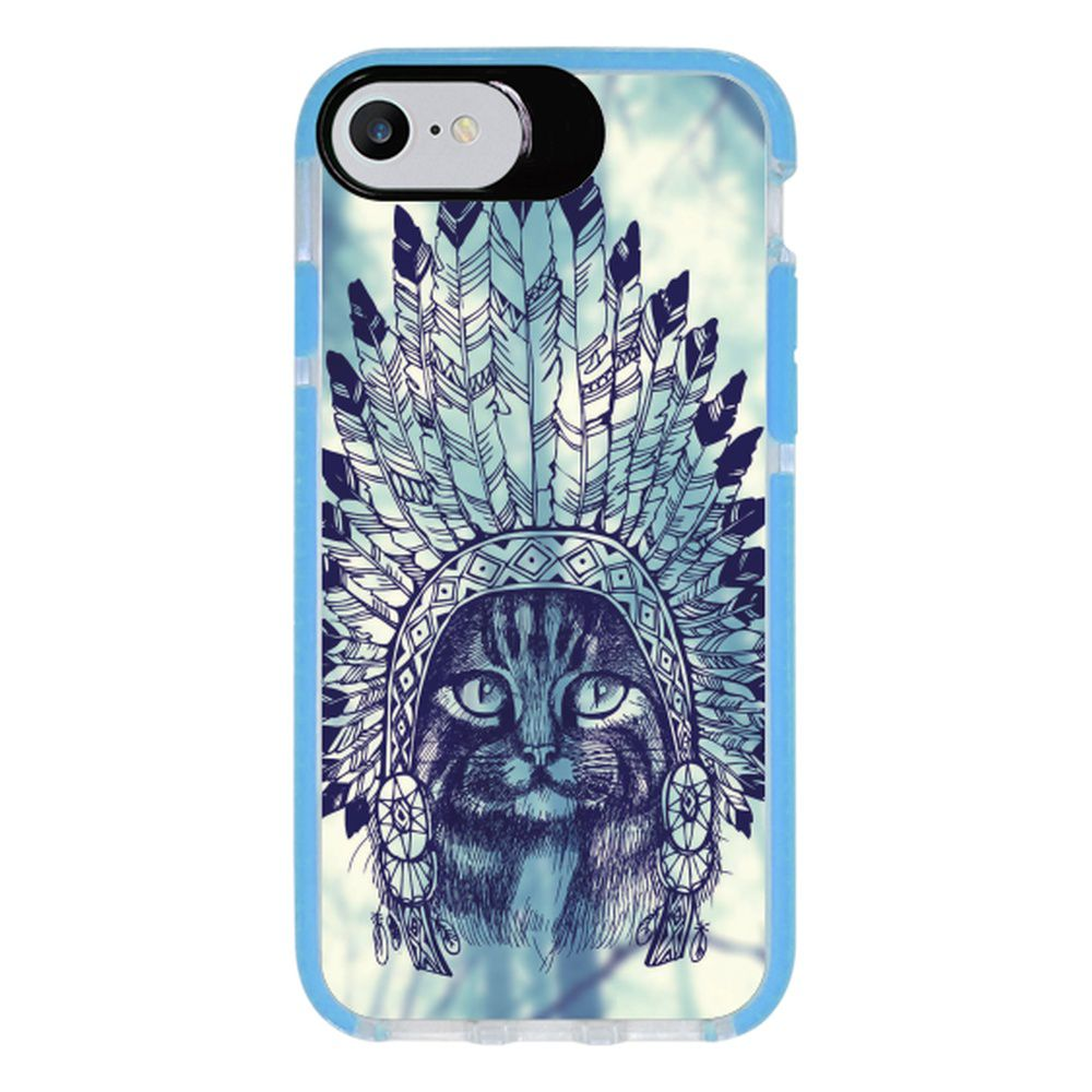 Capa Personalizada Intelimix Intelishock Azul Apple iPhone 7 - Pets - PE88