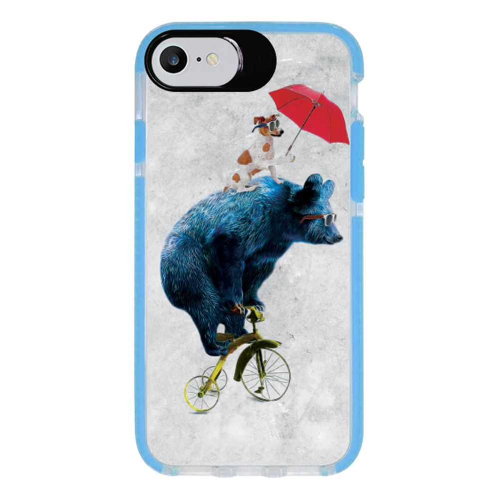 Capa Personalizada Intelimix Intelishock Azul Apple iPhone 7 - Pets - PE92