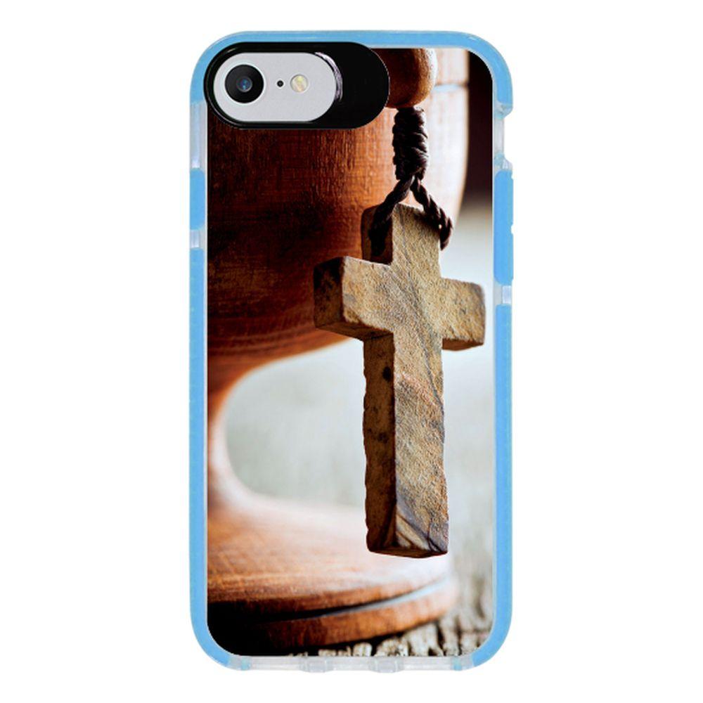 Capa Personalizada Intelimix Intelishock Azul Apple iPhone 7 - Religião - RE03