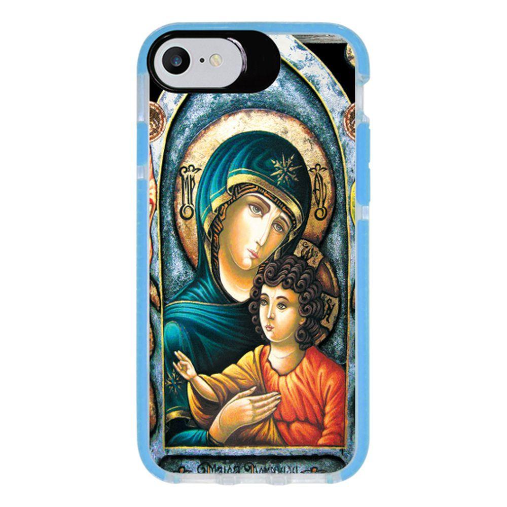 Capa Personalizada Intelimix Intelishock Azul Apple iPhone 7 - Religião - RE15