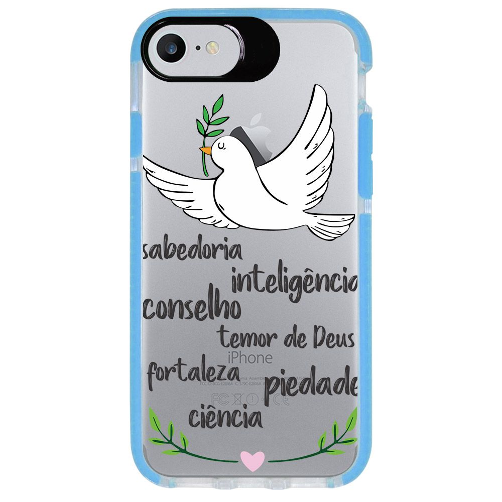 Capa Personalizada Intelimix Intelishock Azul Apple iPhone 7 - Religião - TP346
