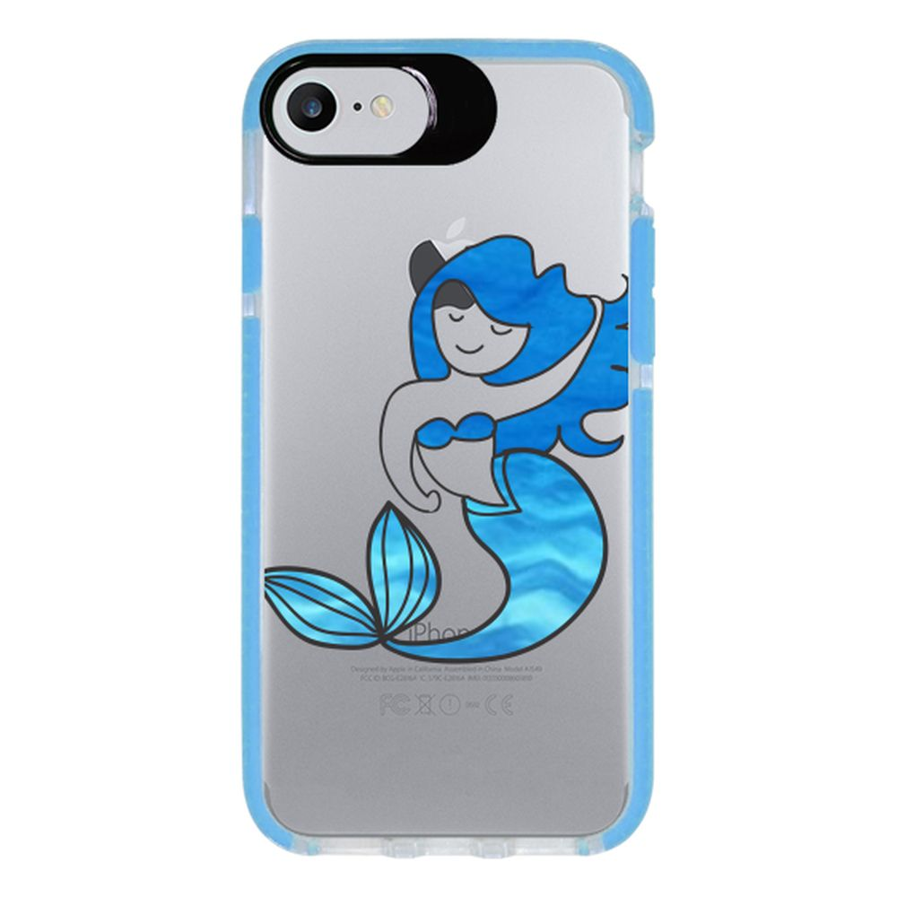 Capa Personalizada Intelimix Intelishock Azul Apple iPhone 7 - Sereia - TP301