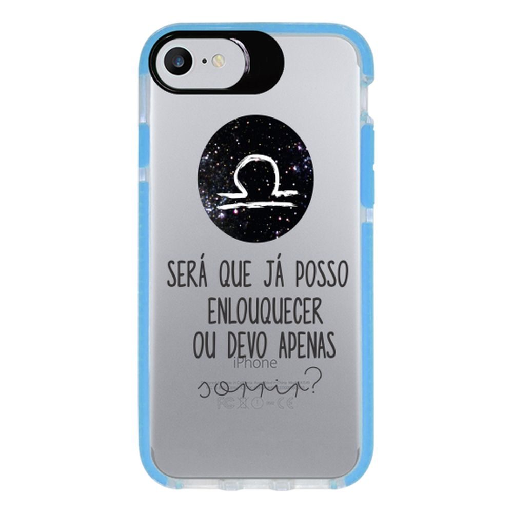 Capa Personalizada Intelimix Intelishock Azul Apple iPhone 7 - Signos - SN19