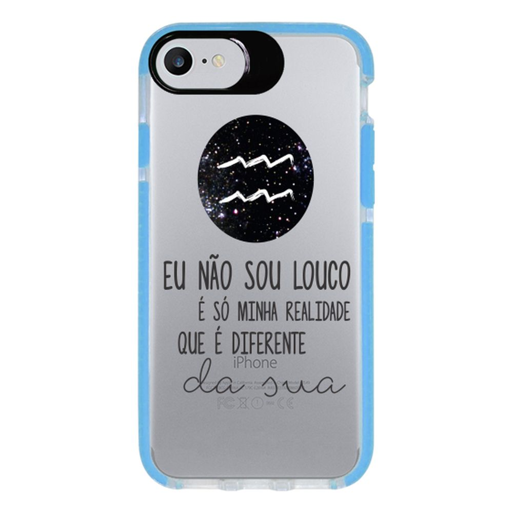 Capa Personalizada Intelimix Intelishock Azul Apple iPhone 7 - Signos - SN23