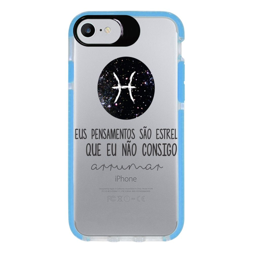 Capa Personalizada Intelimix Intelishock Azul Apple iPhone 7 - Signos - SN24