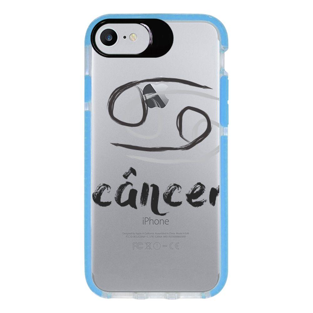 Capa Personalizada Intelimix Intelishock Azul Apple iPhone 7 - Signos - SN28