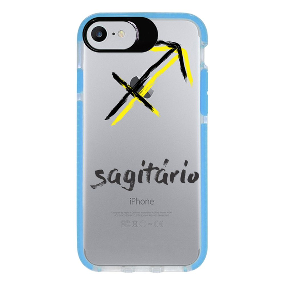 Capa Personalizada Intelimix Intelishock Azul Apple iPhone 7 - Signos - SN33