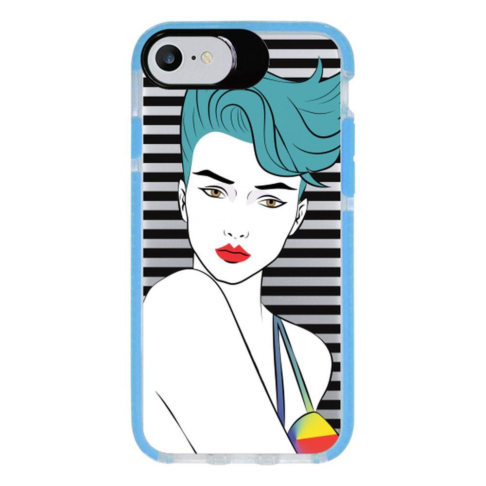Capa Personalizada Intelimix Intelishock Azul Apple iPhone 7 - Style - TP265