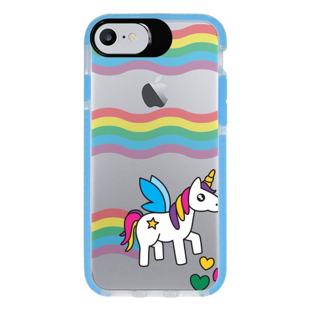 Capa Personalizada Intelimix Intelishock Azul Apple iPhone 7 - Unicórnio - TP181