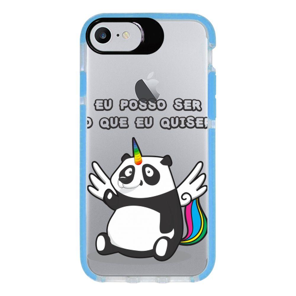 Capa Personalizada Intelimix Intelishock Azul Apple iPhone 7 - Unicórnio - TP185