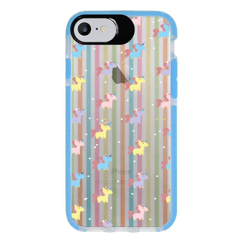 Capa Personalizada Intelimix Intelishock Azul Apple iPhone 7 - Unicórnios - TP310