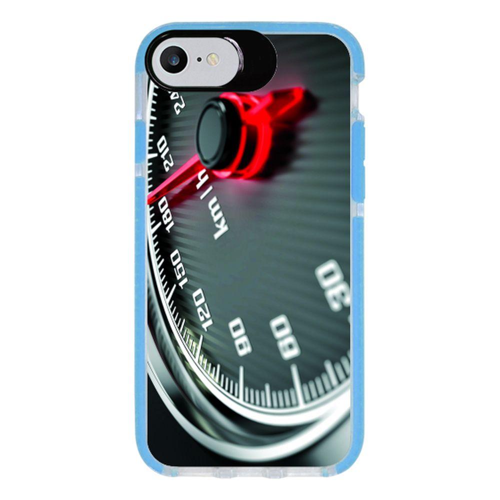 Capa Personalizada Intelimix Intelishock Azul Apple iPhone 7 - Velocímetro - VL06
