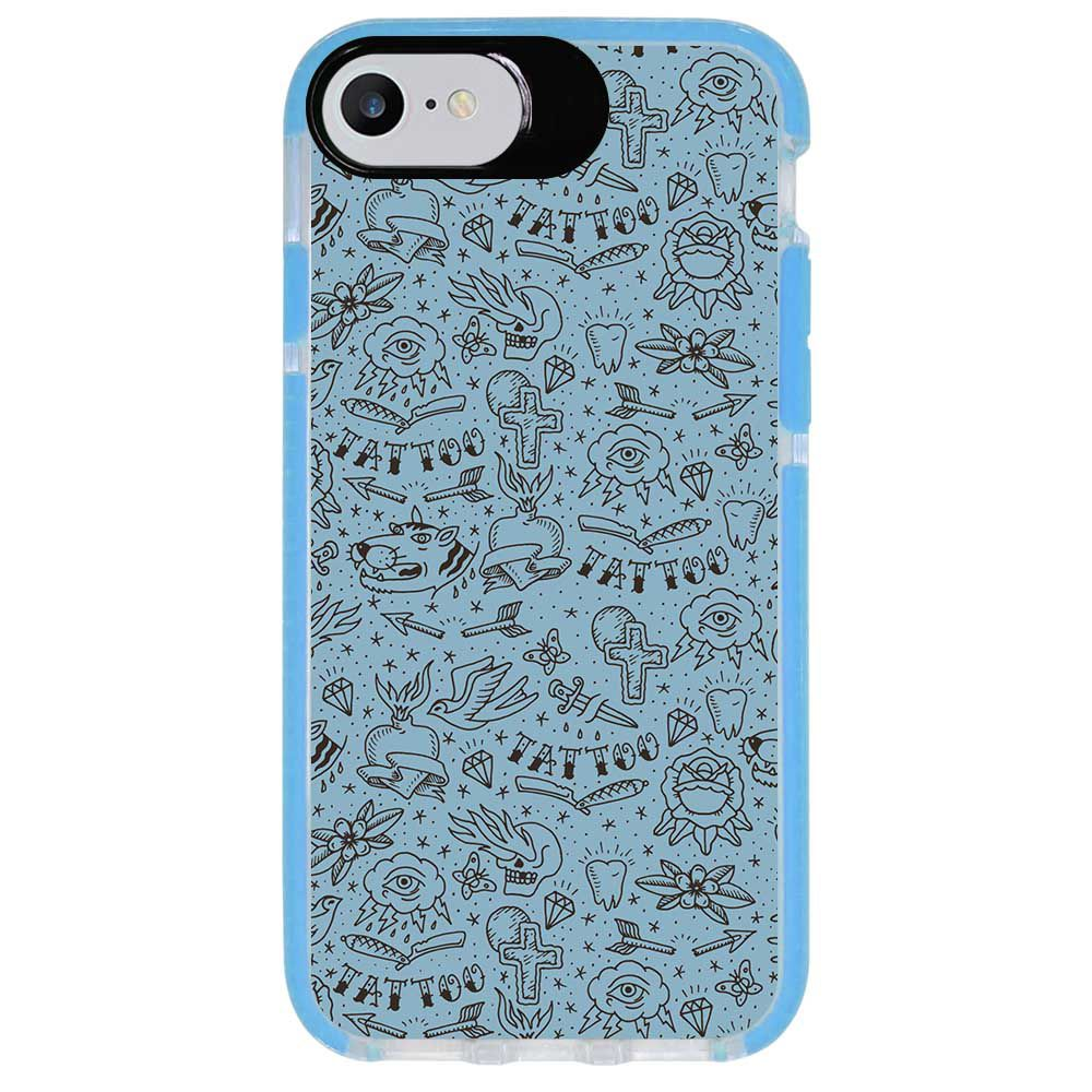 Capa Personalizada Intelimix Intelishock Azul Apple iPhone 7 - Vintage - VT17