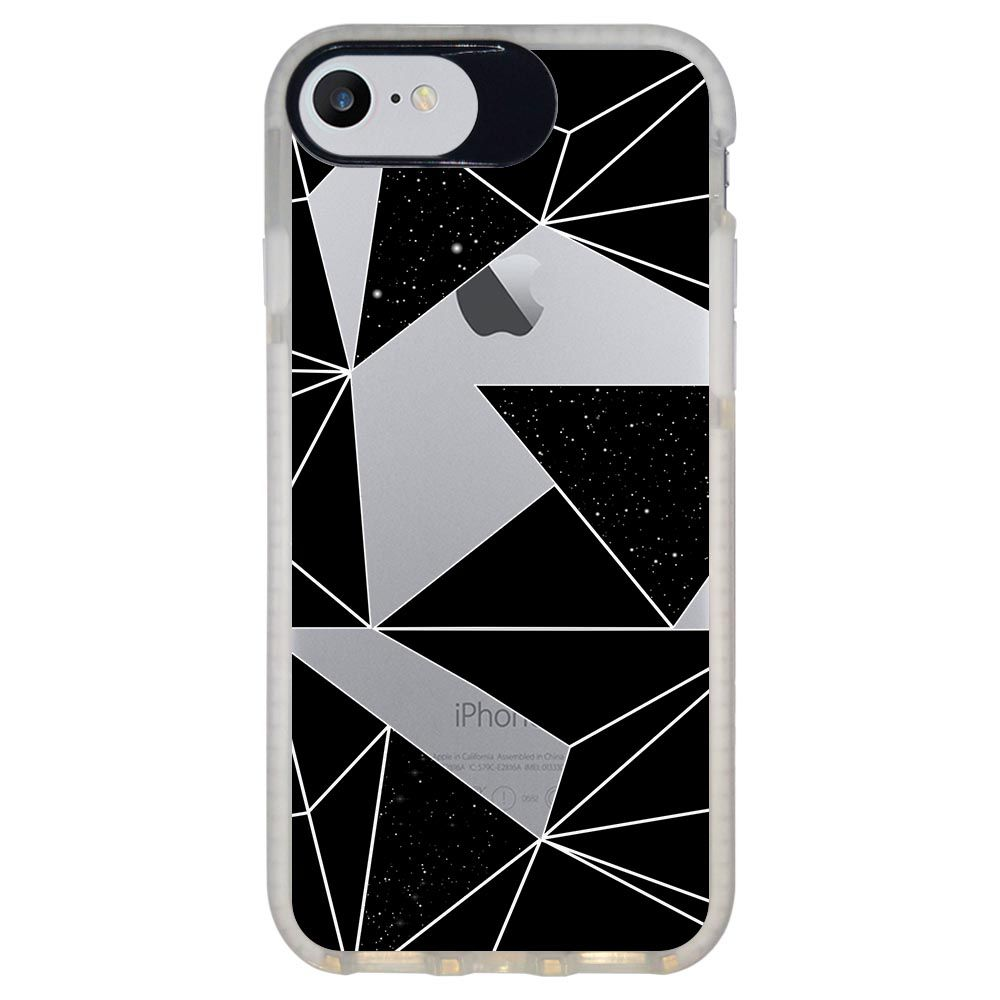 Capa Personalizada Intelimix Intelishock Branca Apple iPhone 7 - Abstrato - TP374