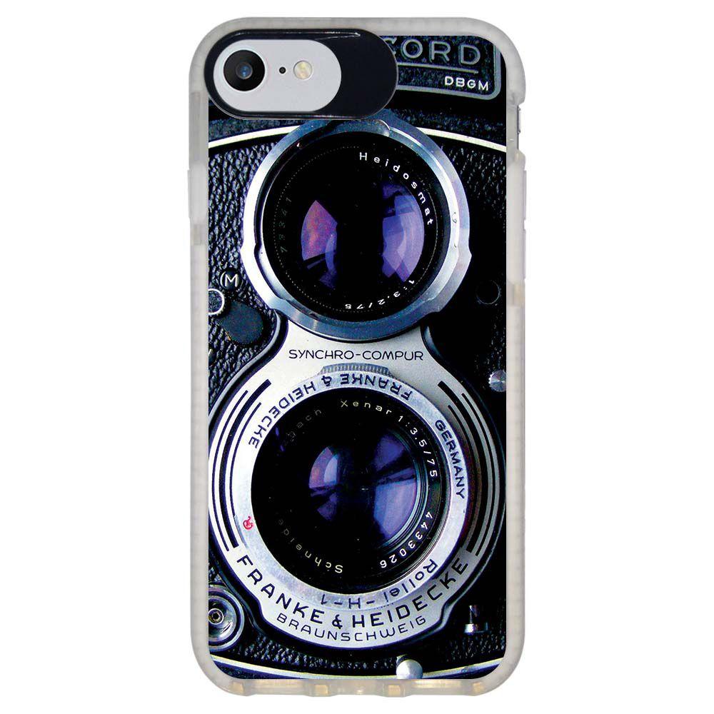 Capa Personalizada Intelimix Intelishock Branca Apple iPhone 7 - Câmera - TX56